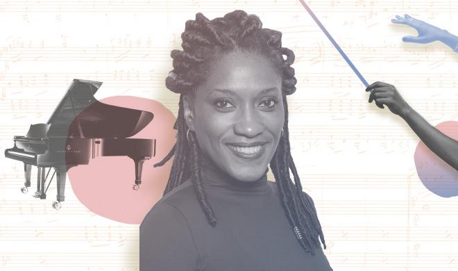 Negra, mulher e regente de orquestra