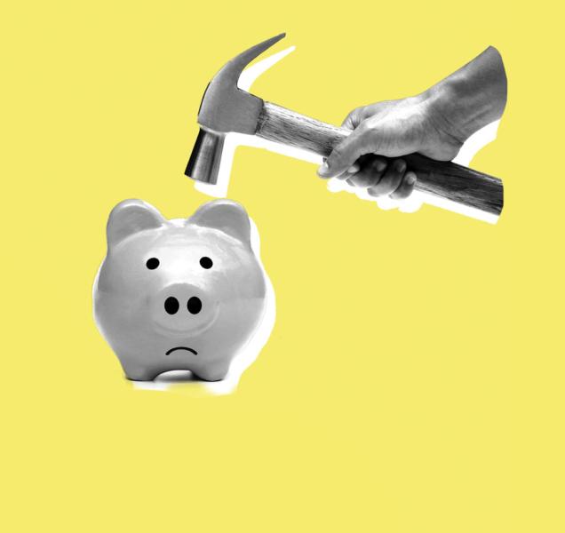 Ninguém consegue guardar dinheiro?